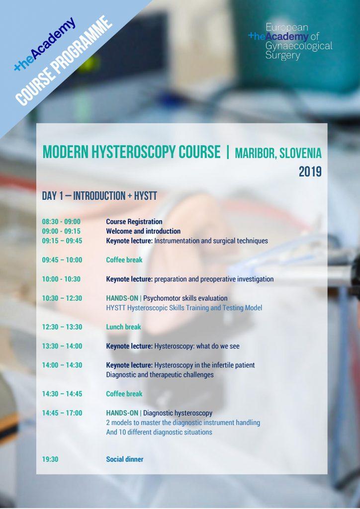 MODERN HYSTEROSCOPY Day 1